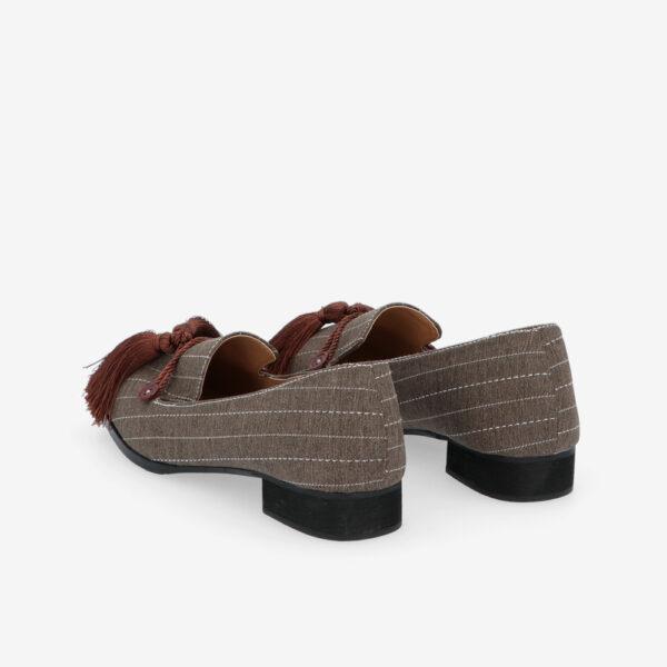 "carlorino shoe 33320 J001 55 4 - 1"" Suri In Stripes Loafers"