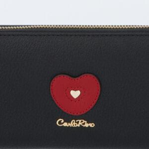 carlorino wallet 0304794H 503 08 5 - Queen of Hearts Zip-around Wallet