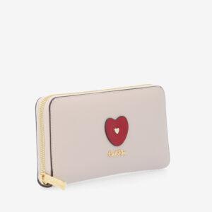 carlorino wallet 0304794H 503 21 3 - Queen of Hearts Zip-around Wallet
