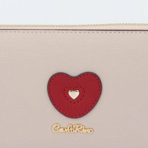 carlorino wallet 0304794H 503 21 5 - Queen of Hearts Zip-around Wallet