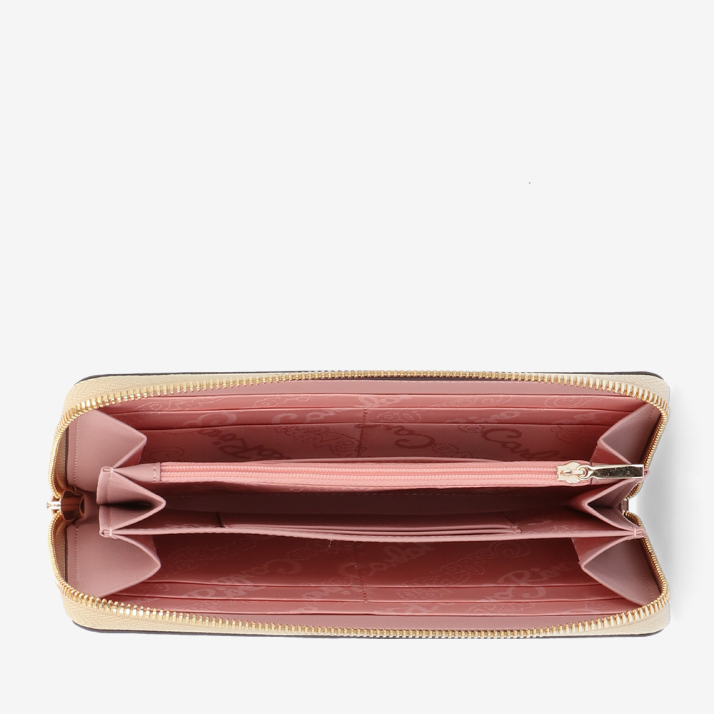 carlorino wallet 0305010H 502 31 4 - Love Struck Monogram Zip-around Wallet