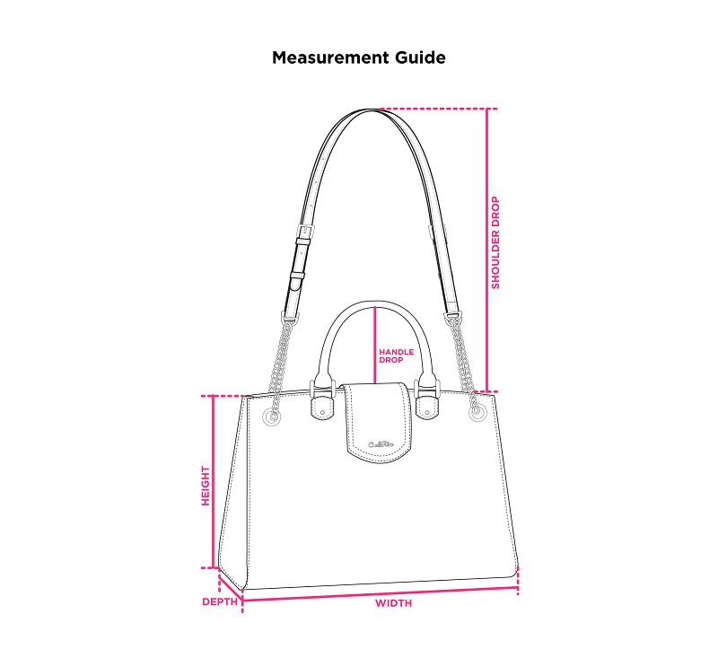 cr measurement bags - Studded Dual-surfaced Shoulder Bag with Mock Lock