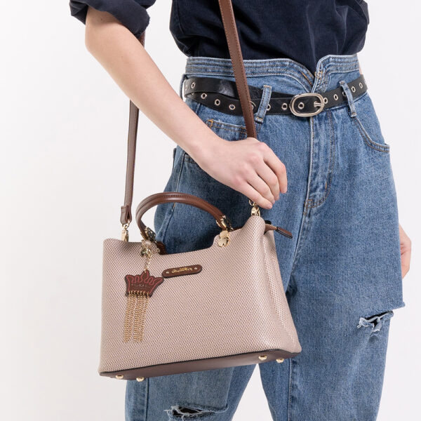 0304926G 001 05 600x600 - First of Her Name Top Handle Tote