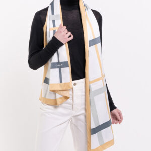 31S02 G001 21 - Iconic Stripes Long Silk Scarf