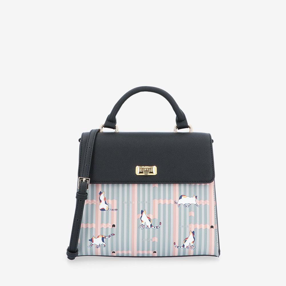 carlorino bag 0305028J 007 08 1 - Miss Snowball Top Handle with Flap