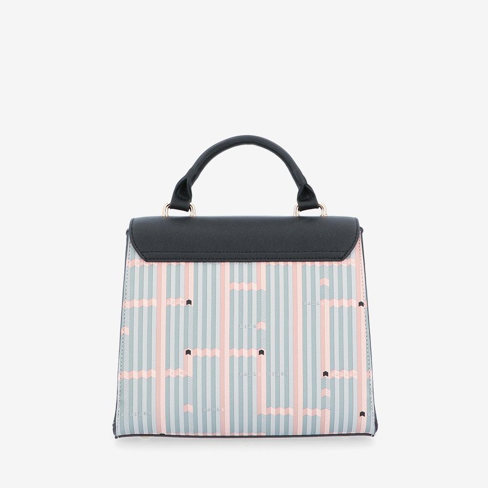 carlorino bag 0305028J 007 08 2 - Miss Snowball Top Handle with Flap