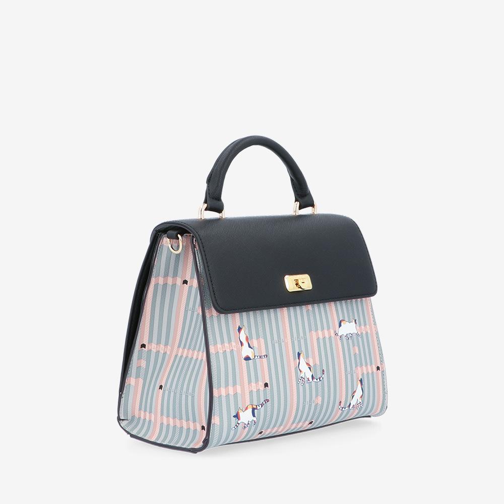 carlorino bag 0305028J 007 08 3 - Miss Snowball Top Handle with Flap