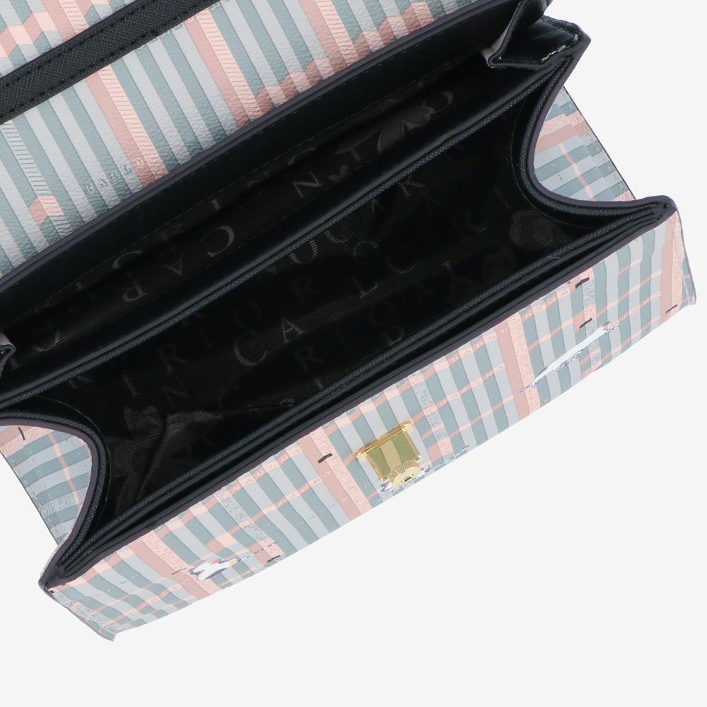 carlorino bag 0305028J 007 08 4 - Miss Snowball Top Handle with Flap