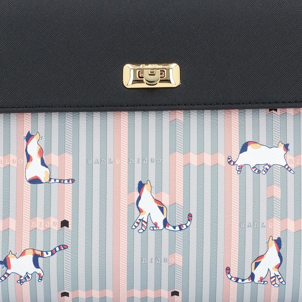 carlorino bag 0305028J 007 08 5 - Miss Snowball Top Handle with Flap