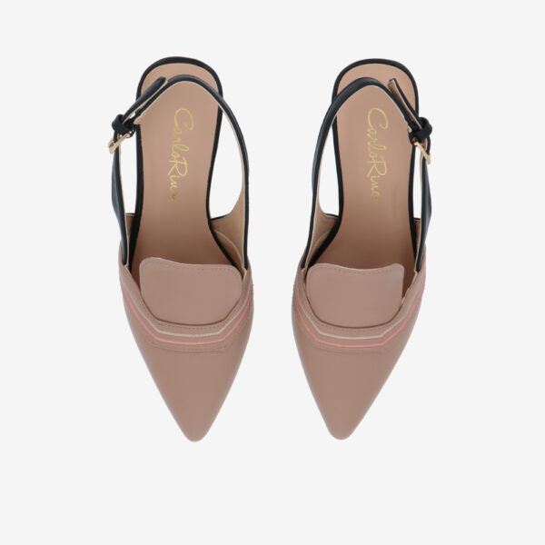 "carlorino shoe 33310 J001 31 3 - 2.5"" Stop and Stare Pumps"