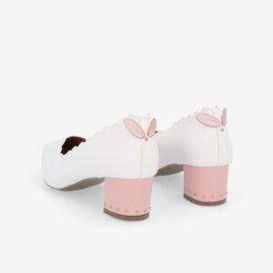 "carlorino shoe 33310 J004 01 4 - 1.5"" Honey Bunny Studded Pumps"