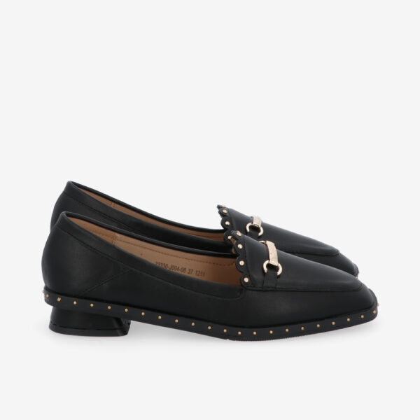 carlorino shoe 33330 J004 08 2 - Honey Bunny Studded Loafers