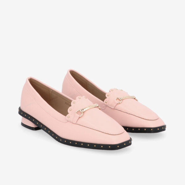carlorino shoe 33330 J004 24 1 - Honey Bunny Studded Loafers