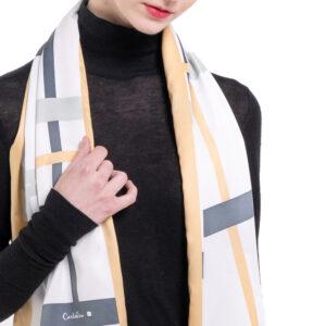 Iconic Stripes Long Silk Scarf