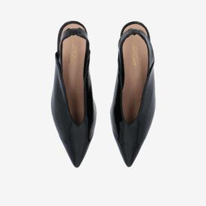 "carlorino shoe 33310 J005 08 3 - 2"" Glossy Sandy Slingback Heels"
