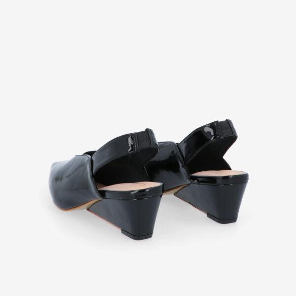 "carlorino shoe 33310 J005 08 4 - 2"" Glossy Sandy Slingback Heels"