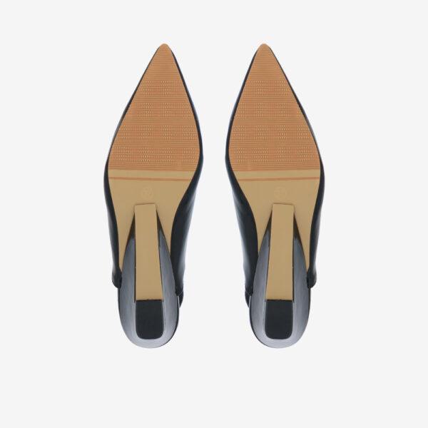 "carlorino shoe 33310 J005 08 5 - 2"" Glossy Sandy Slingback Heels"