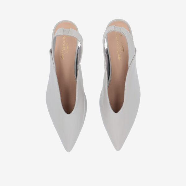"carlorino shoe 33310 J005 28 3 - 2"" Glossy Sandy Slingback Heels"