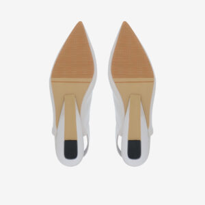 "carlorino shoe 33310 J005 28 5 - 2"" Glossy Sandy Slingback Heels"