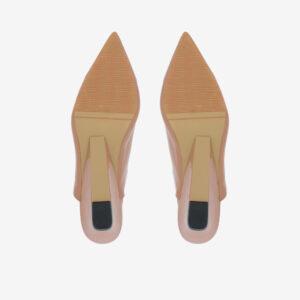 "carlorino shoe 33310 J005 31 5 - 2"" Glossy Sandy Slingback Heels"
