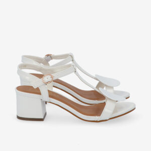 """carlorino shoe 33340 J005 01 2 - 1.5"""" Over The Top T-Bar Heels"""