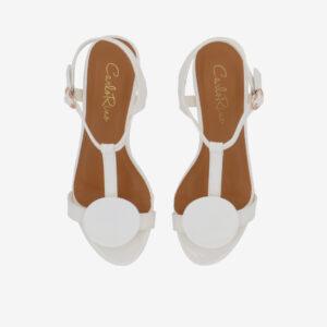 """carlorino shoe 33340 J005 01 3 - 1.5"""" Over The Top T-Bar Heels"""