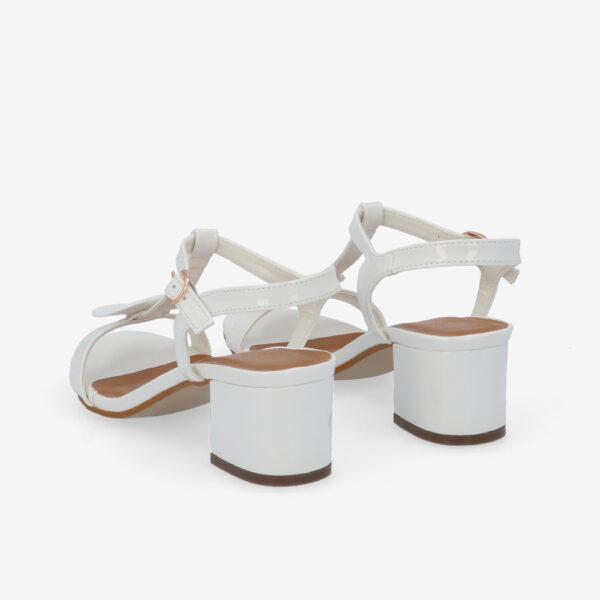 """carlorino shoe 33340 J005 01 4 - 1.5"""" Over The Top T-Bar Heels"""