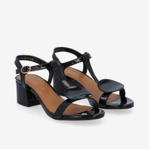 """carlorino shoe 33340 J005 08 1 - 1.5"""" Over The Top T-Bar Heels"""