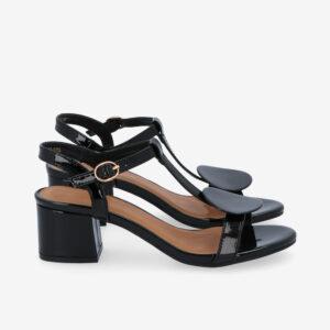 """carlorino shoe 33340 J005 08 2 - 1.5"""" Over The Top T-Bar Heels"""