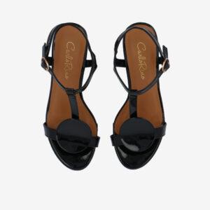 """carlorino shoe 33340 J005 08 3 - 1.5"""" Over The Top T-Bar Heels"""