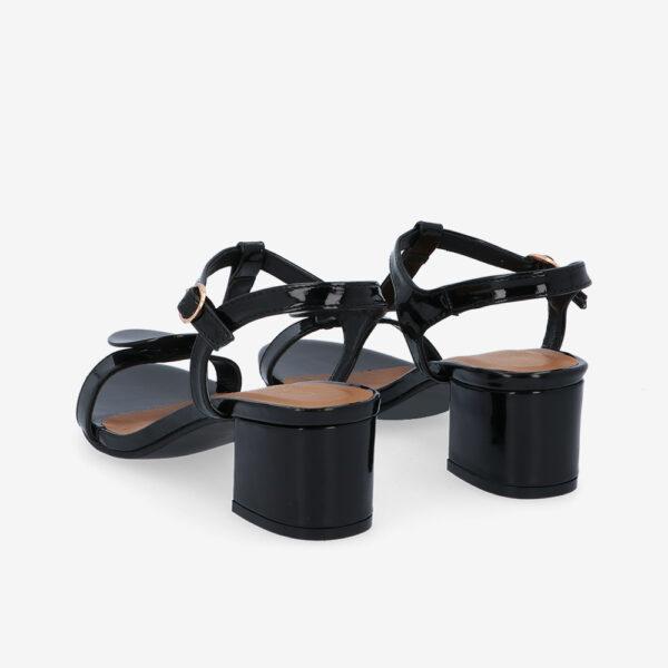 """carlorino shoe 33340 J005 08 4 - 1.5"""" Over The Top T-Bar Heels"""