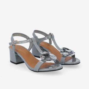 """carlorino shoe 33340 J005 28 1 - 1.5"""" Over The Top T-Bar Heels"""