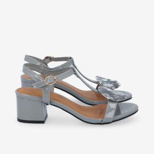 """carlorino shoe 33340 J005 28 2 - 1.5"""" Over The Top T-Bar Heels"""