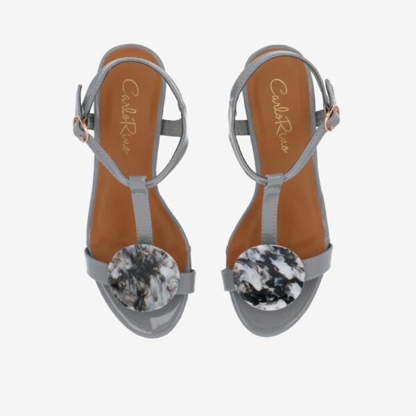 """carlorino shoe 33340 J005 28 3 - 1.5"""" Over The Top T-Bar Heels"""