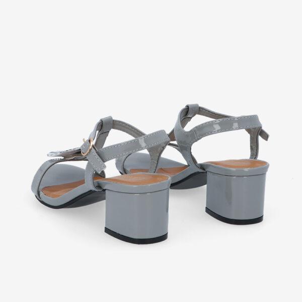 """carlorino shoe 33340 J005 28 4 - 1.5"""" Over The Top T-Bar Heels"""