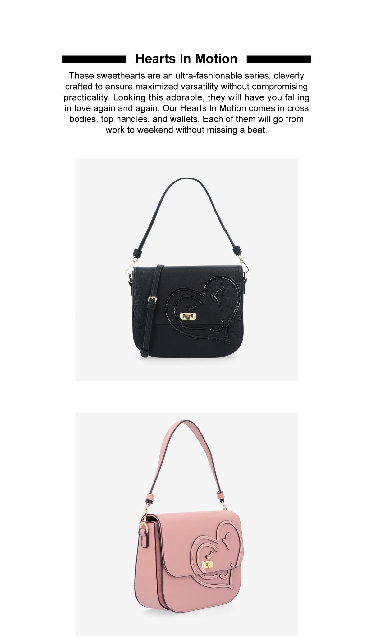 0305043J 001 2 - Hearts In Motion Shoulder Bag - Style 1
