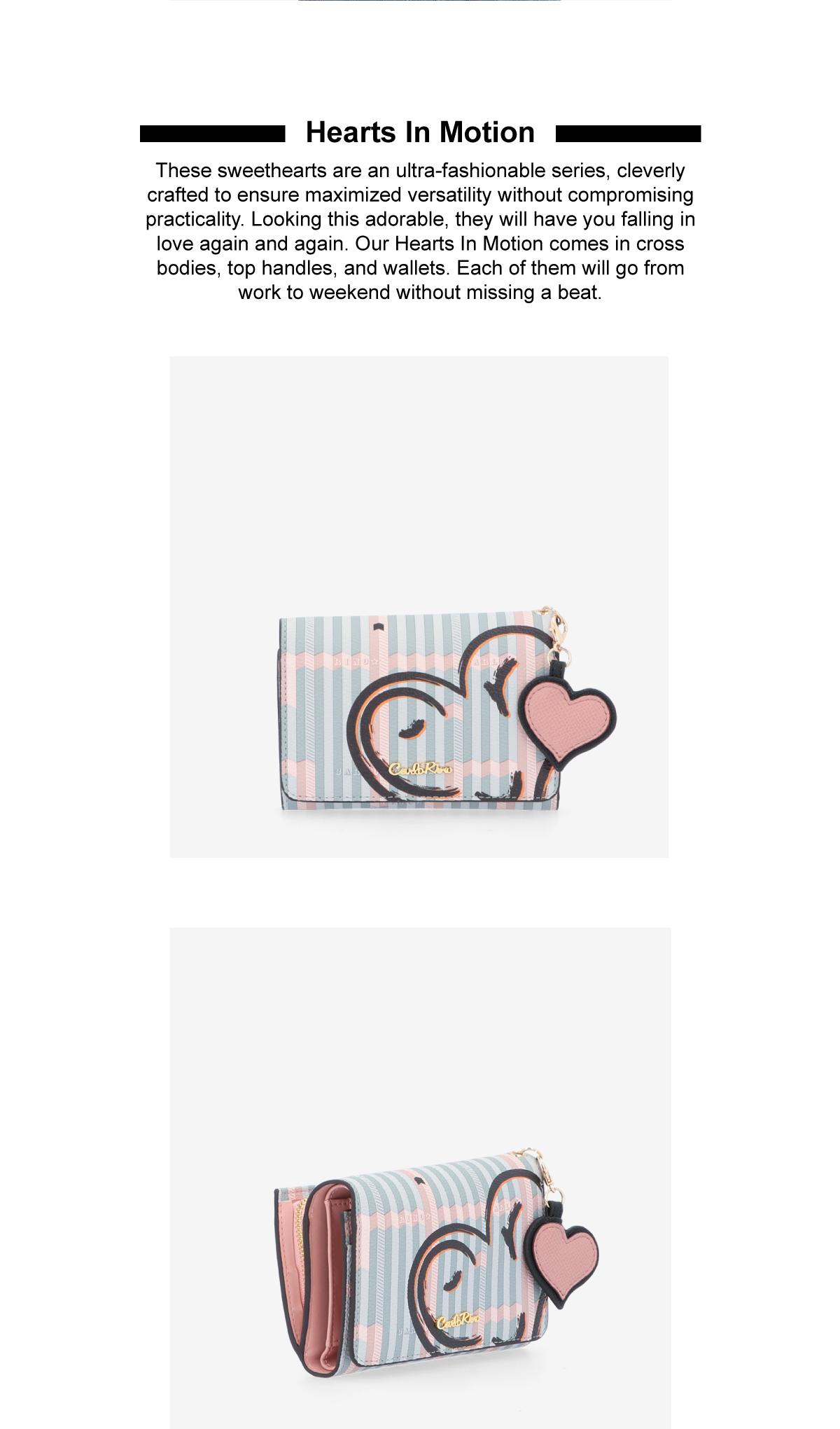 0305043J 503 2 - Hearts In Motion 3-fold Wallet