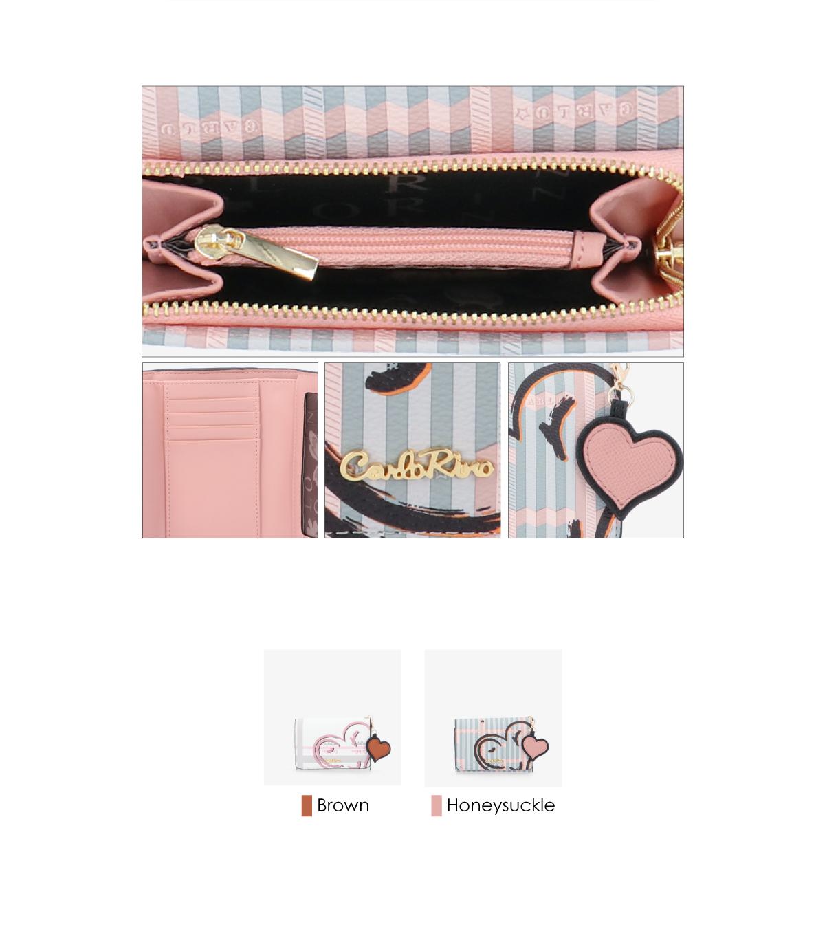 0305043J 503 3 - Hearts In Motion 3-fold Wallet