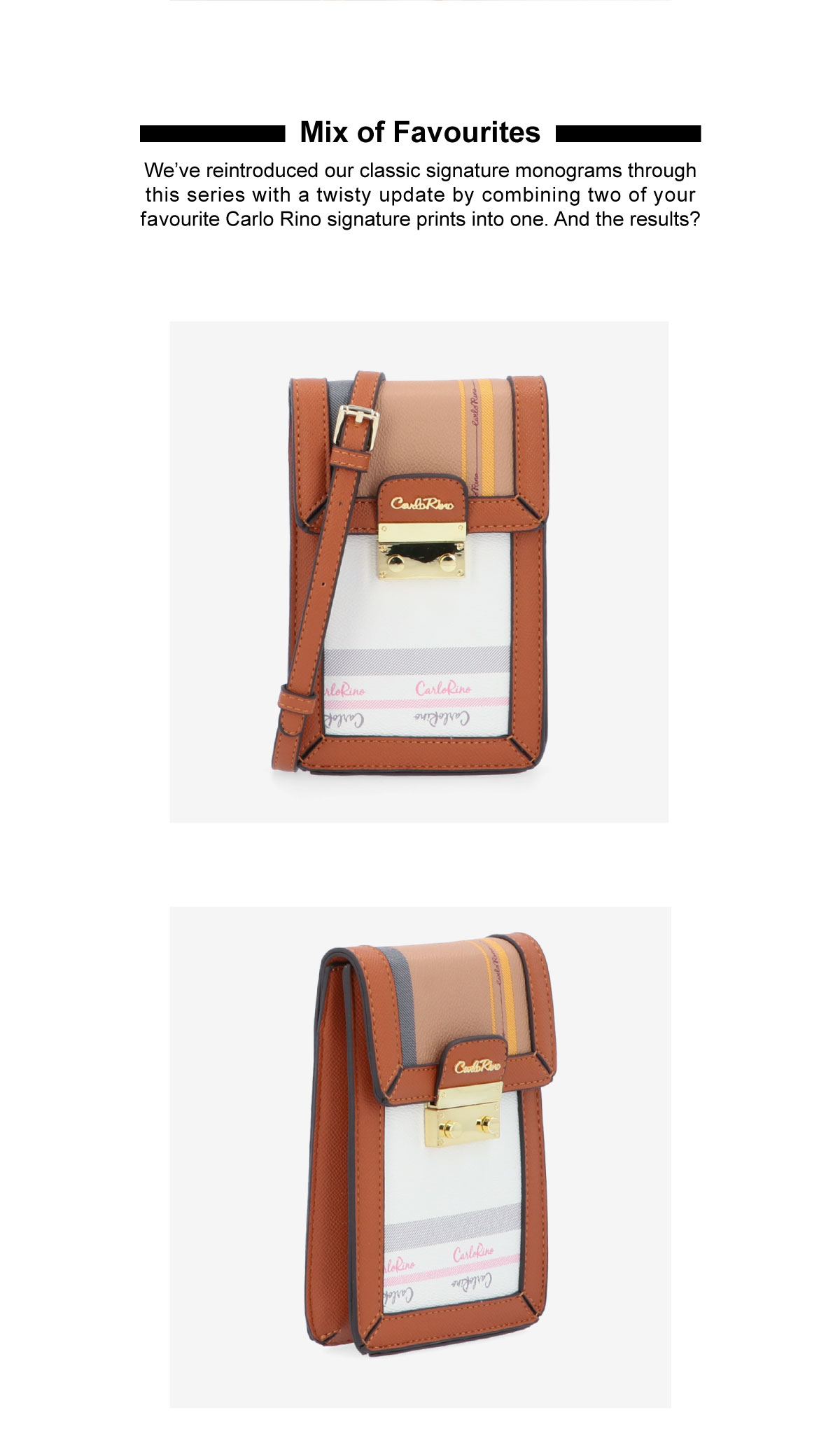 0305062J 701 05 2 1 - Mix of Favourites Vertical Cross Body