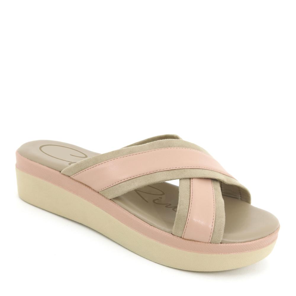 "carlorino shoe 33370 D014 24 1 - 2"" cushy criss-cross slip-on"