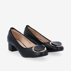 "carlorino shoe 33310 J009 08 1 300x300 - 1 1/2"" Button Top Round Toe Pump"