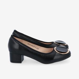 "carlorino shoe 33310 J009 08 2 300x300 - 1 1/2"" Button Top Round Toe Pump"