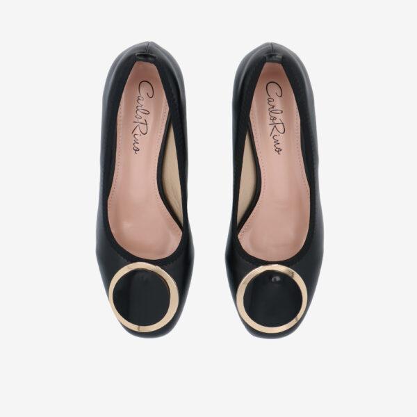 "carlorino shoe 33310 J009 08 3 - 1 1/2"" Button Top Round Toe Pump"