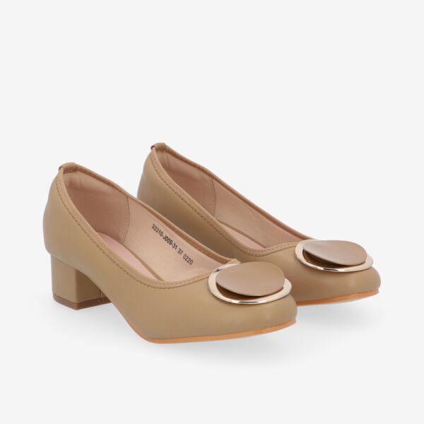 "carlorino shoe 33310 J009 31 1 - 1 1/2"" Button Top Round Toe Pump"