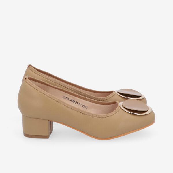 "carlorino shoe 33310 J009 31 2 - 1 1/2"" Button Top Round Toe Pump"