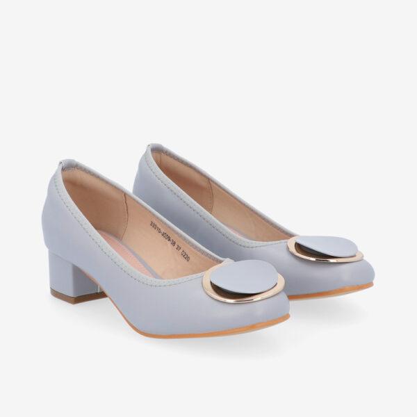 "carlorino shoe 33310 J009 38 1 - 1 1/2"" Button Top Round Toe Pump"