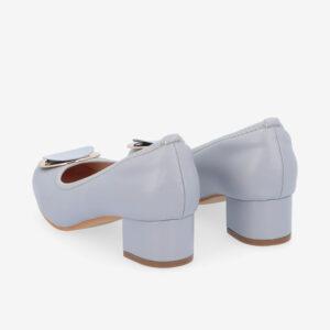 "carlorino shoe 33310 J009 38 4 - 1 1/2"" Button Top Round Toe Pump"