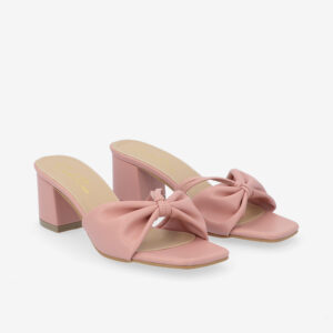 "carlorino shoe 33340 J008 24 1 - 2 1/2"" Cotton Candy Bow Slip On"