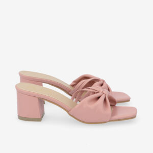 "carlorino shoe 33340 J008 24 2 - 2 1/2"" Cotton Candy Bow Slip On"
