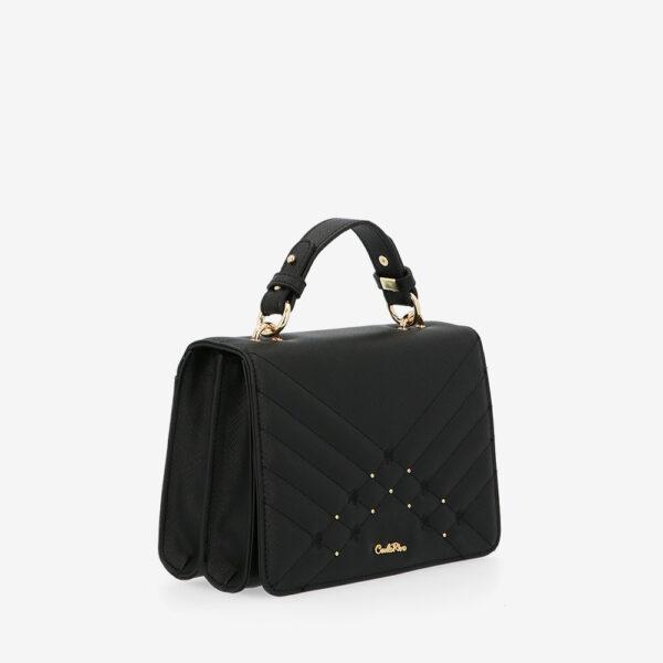carlorino bag 0305058K 002 08 3 600x600 - Medallion Top Handle Bag